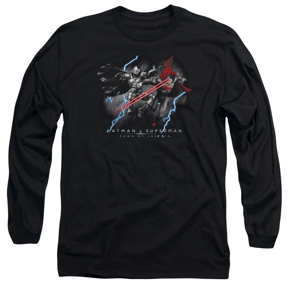 Trevco Batman V Superman/Lightning V Heat Vision   L/S Ad...