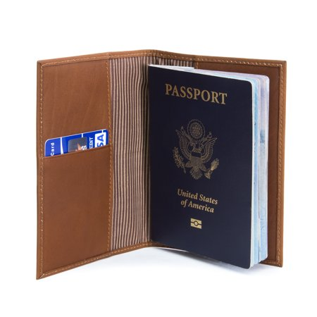 Muiska Leather Luca Lightweight Slim Passport Cover Case Travel