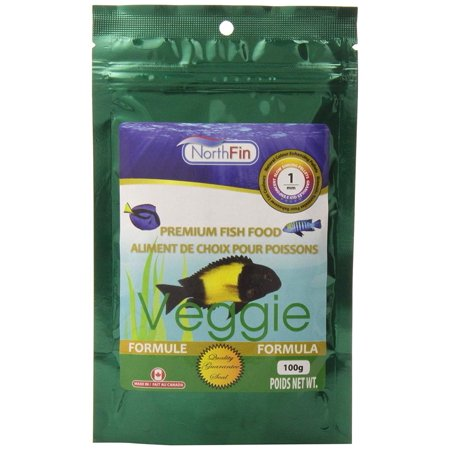 Veggie Formula Premium Fish Food, 1 Millimeter Sinking Pellets, 100 Grams Per Pack, Nutritious daily diet for herbivorous and omnivorous fish By (Veggie Sink)