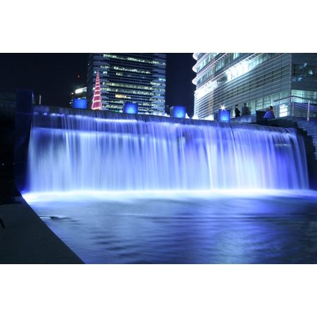 LAMINATED POSTER Cheonggyecheon Stream Chapter Impressions Waterfall Poster Print 24 x 36