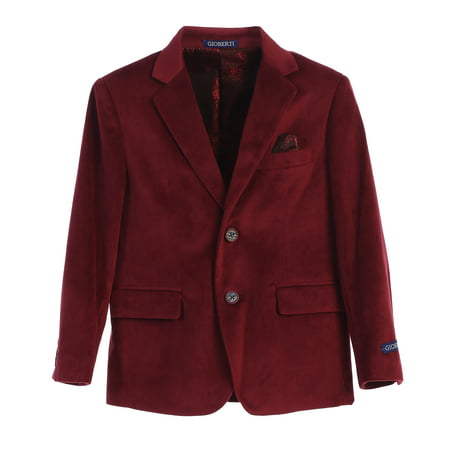Boys Formal Velvet Blazer