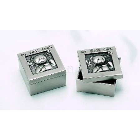 1ST CURL & 1ST TOOTH SET/2 BOXES, PEWTER -