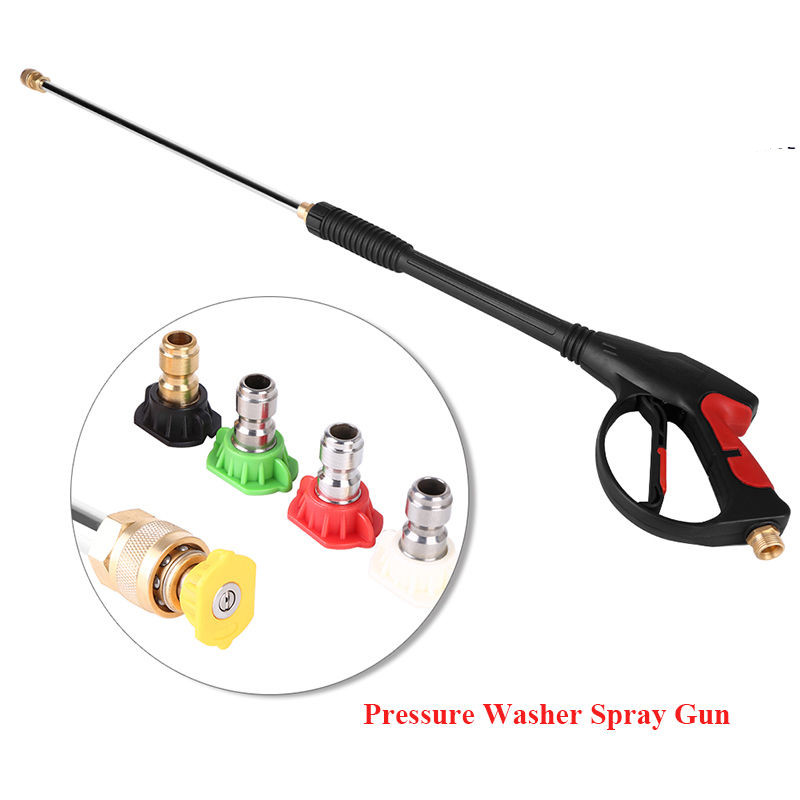 High Pressure/Power Washer Spray Gun, Wand/Lance&Nozzle Kit Gasoline 4000PSI M22