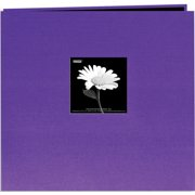 "Book Cloth Cover Post Bound Album 12""X12""-Grape Purple"