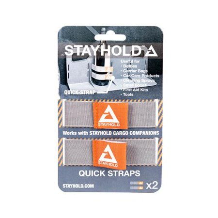 Velcro Usa Consumer Pdts 99006 Stayhold Quick Straps  2Ct Grey