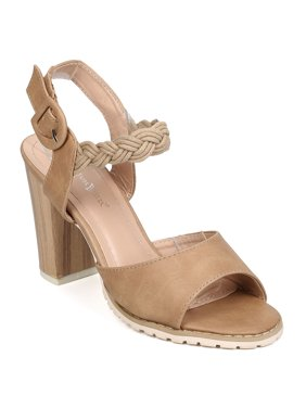 45d235d091b6 Product Image New Women Nature Breeze Dazzle-02 PU Braided Ankle Strap  Chunky Heel Sandal