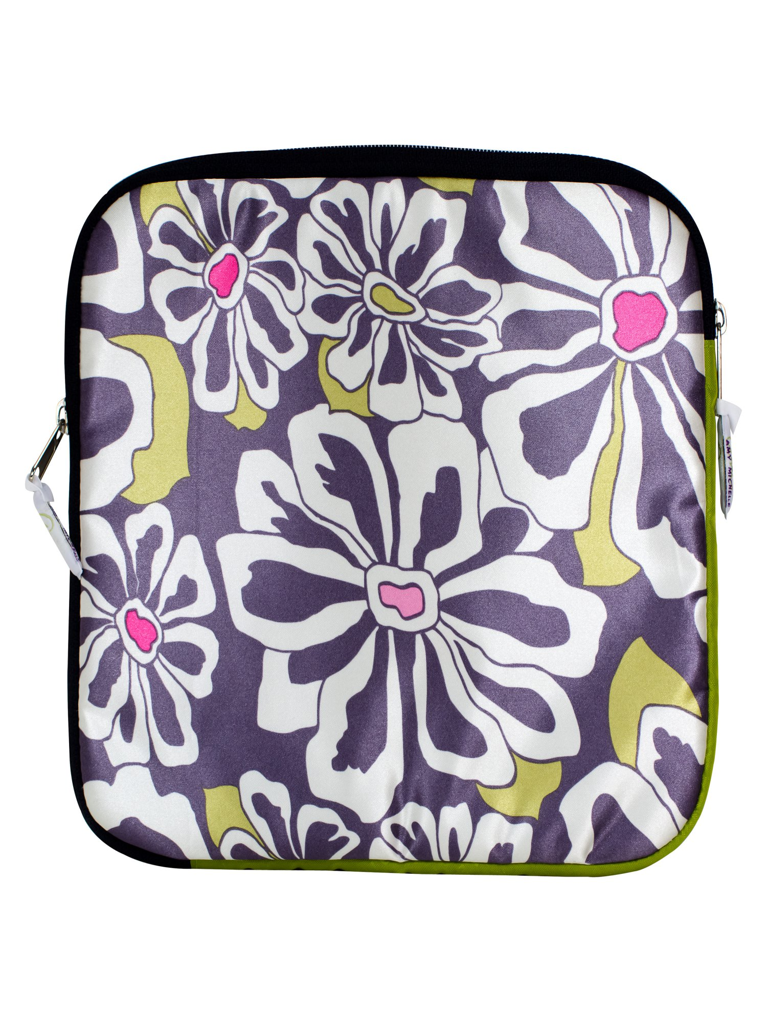 Amy Michelle Go Work iPad/Tablet Sleeve - Charcoal Floral
