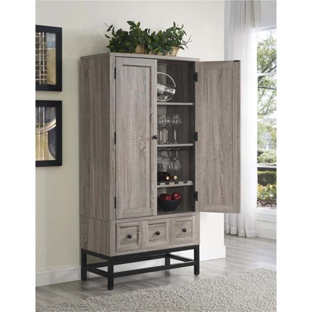 Ameriwood Home Barrett Home Bar Cabinet In Sonoma Oak