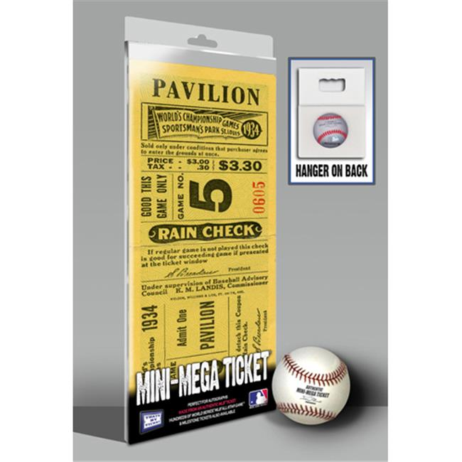 Thats My Ticket TMT-BSTLMM34WS 1934 World Series Mini-Mega Ticket, St Louis Cardinals