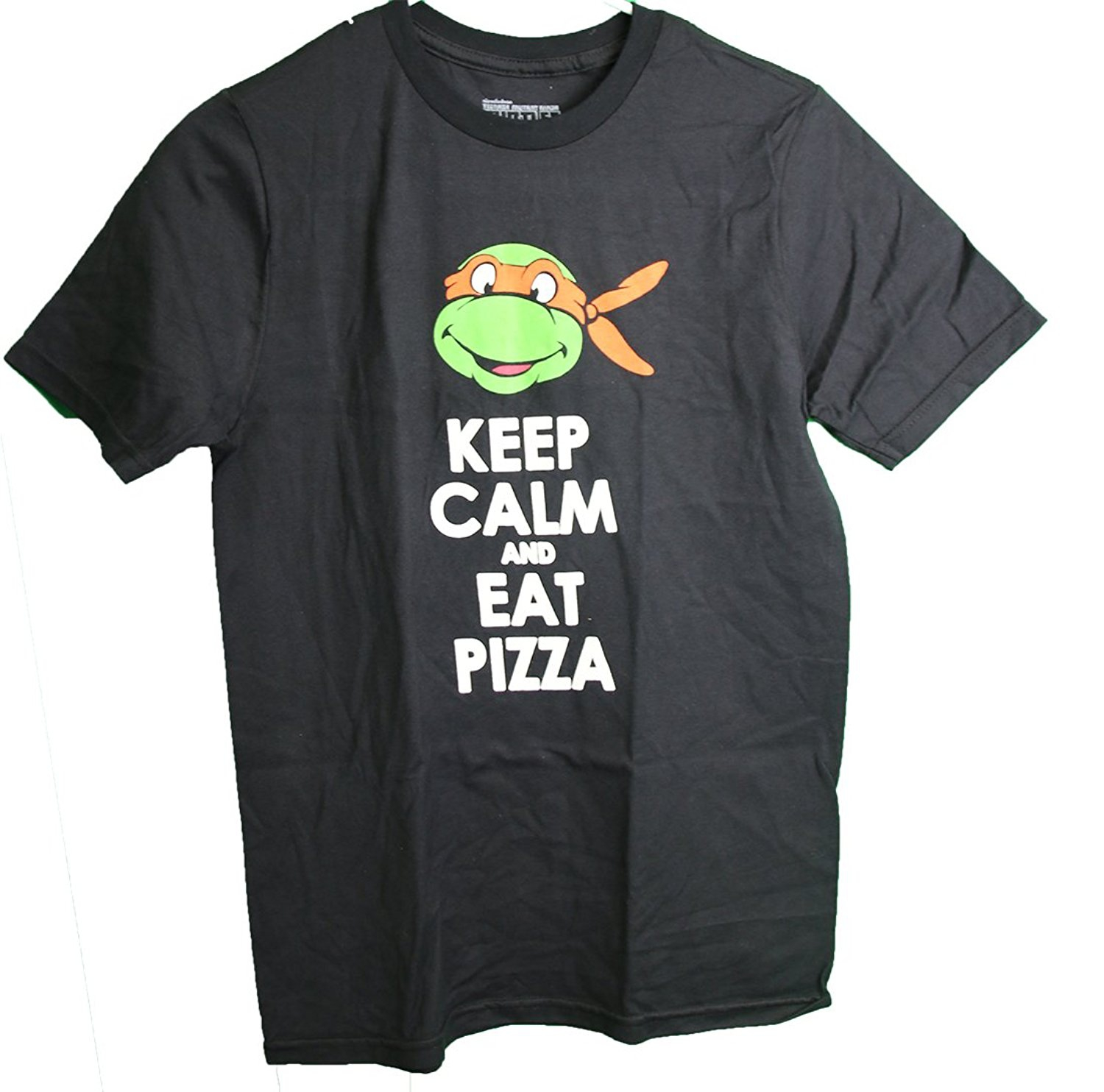 Teenage Mutant Ninja Turtles Michelangelo Keep Calm Eat Pizza Youth Boy's T-Shirt