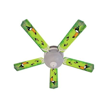 - Green Toucan Designer 52in Ceiling Fan Blades Set