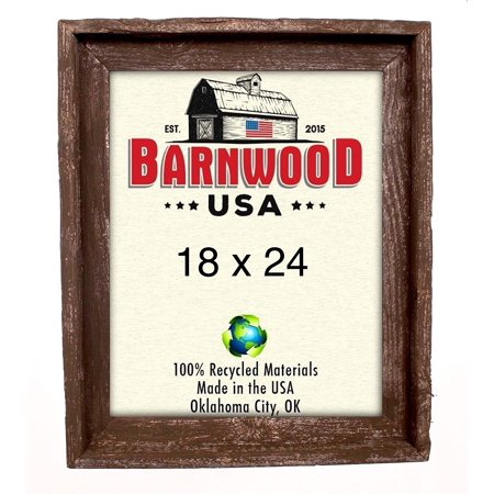 BarnwoodUSA | Signature Picture Frame - 100% Up-cycled Reclaimed Wood (18x24, - Signature Photo Frame