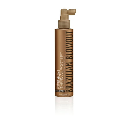 Brazilian Blowout Instant Volume Thermal Root Lift Spray for Unisex, 6.7