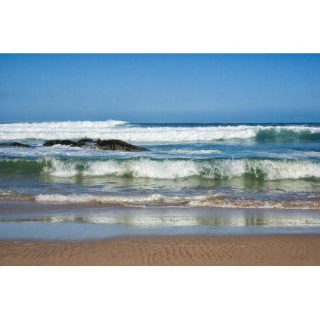Waves Crashing Ashore from Indian Ocean Print Wall Art By Kim Walker