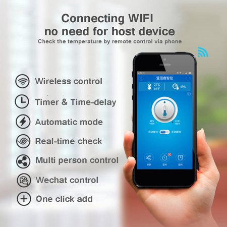 TH10 WiFi Smart Switch Remote Controller Smartphone Temperature and  Humidity Sensor for Smart Home