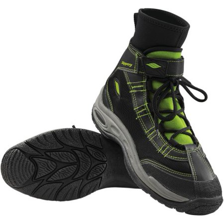 - Slippery Liquid Race Wetsuit Boots Black/Lime