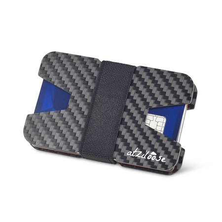 00b56a0204c8 Slim Wallets for Men Carbon Fiber RFID Blocking Wallet Credit Card ...