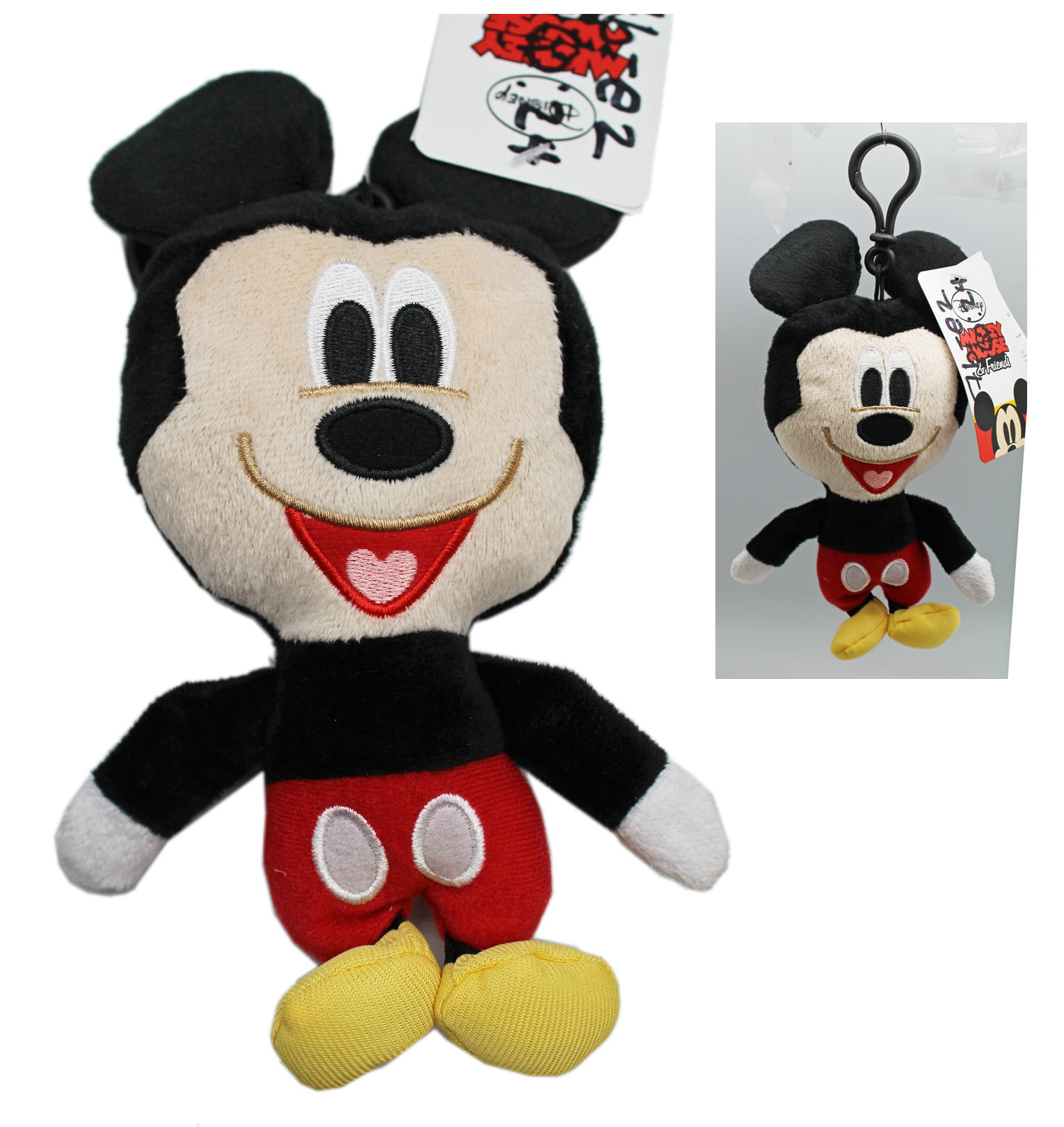 Disney's Mickey Mouse Small Plush Toy w Secret Pocket (6in) by