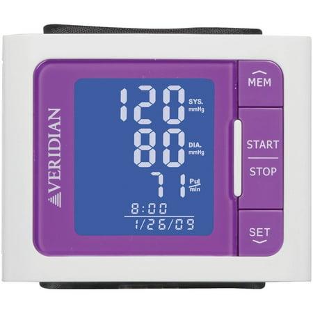 Veridian Vibrant Color Style Blood Pressure Wrist Monitor  Purple