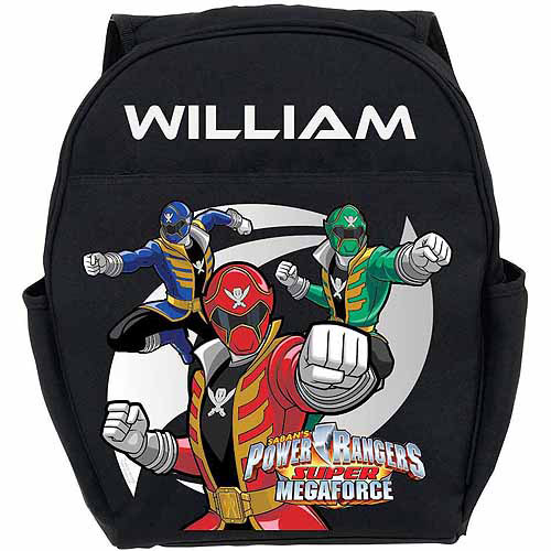 Personalized Power Rangers Super Megaforce Toddlers' Black Backpack