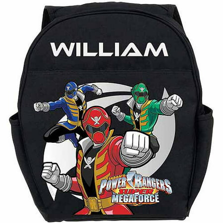 Personalized Power Rangers Super Megaforce Toddlers' Black Backpack - Personalized Kids Back Packs