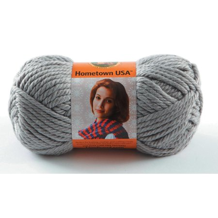 Lion Brand Yarns Hometown USA Acrylic Dallas Grey Yarn, 1 Each