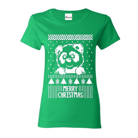 merry christmas panda womens t shirt christmas shirts - Christmas Shirts Walmart