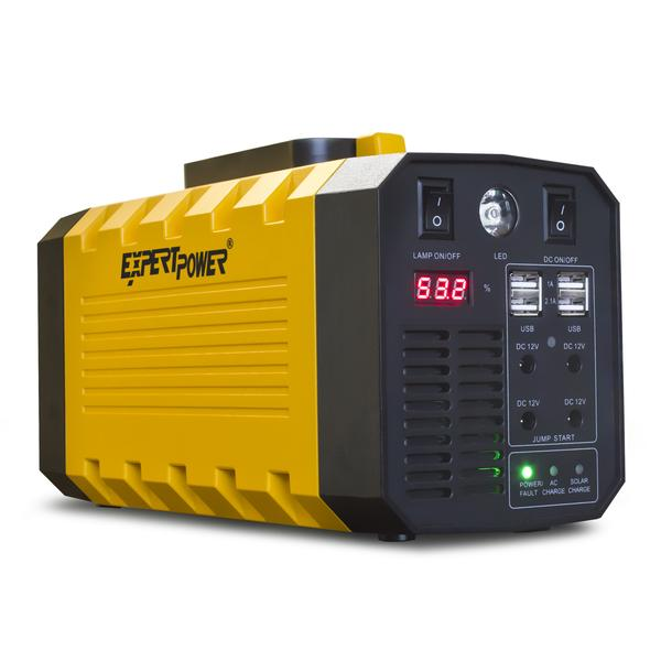 ExpertPower Omega 288 Portable Generator Lithium-ion 12V 26AH 288WH Uninterruptible Power Supply with 500W (Peak 1000W) PURE SINE WAVE for both Outdoor and Indoor Use