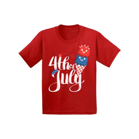 Awkward Styles Toddler T Shirt 4th of July T-Shirt Ice Cream Shirt Girls Clothes Boys T Shirt Outfit for Kids Patriotic Gifts USA Holiday Outfit for Children Ice Cream T-Shirt Ice Cream Lovers Tshirt - 4th Of July Crafts For Toddlers