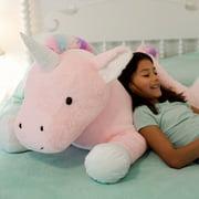 "Animal Adventure® Sqoosh2Poof™ Jumbo Plush Character Compressed Inside Small Box 44"" Unicorn"