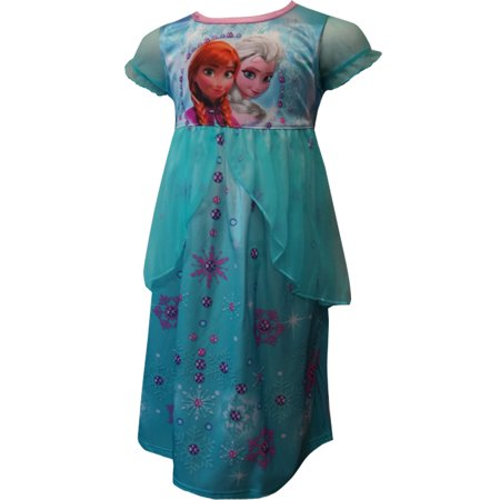 1323f9791c40 Frozen - Disney Frozen Elsa And Anna Snowflake Jewels Nightgown -  Walmart.com