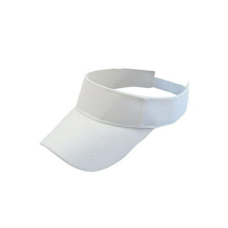 Lavaport 6 Colors Schoil Girls Sun Visors Women Long Brim Thicker Sweatband Adjustable Hats Caps ()