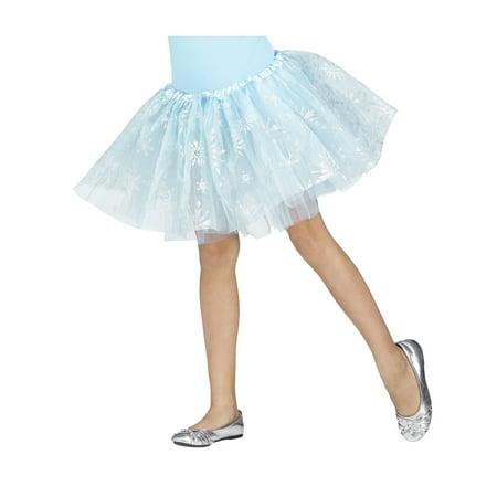 Silver Sparkle Snowflake Tutu Petti Skirt Ice Princess Snow Queen Child - Pet Tip
