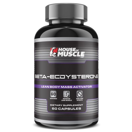 House Of Muscle Beta Ecdysterone   Lean Body Mass Activator Supplement   60 Capsules  Standardized For 99