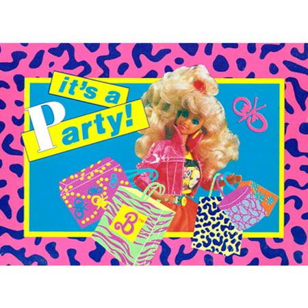 Barbie Vintage 1990 'Animal Print' Invitations w/ Envelopes (8ct)