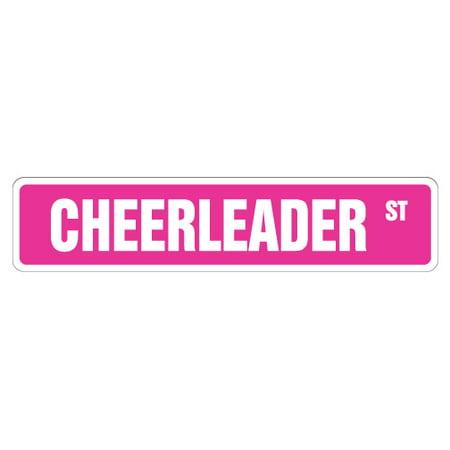 CHEERLEADER Street Sign cheerleading coach team cheer | Indoor/Outdoor | 24