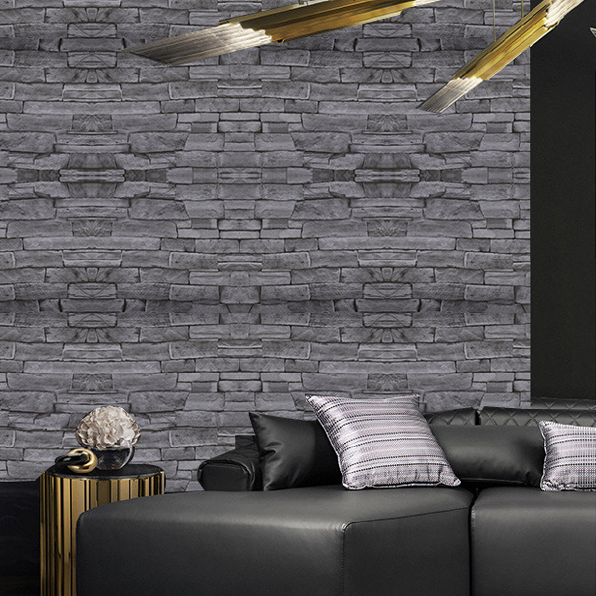 33×1.5ft Brick Peel and Stick Wallpaper PVC Wallpaper ...