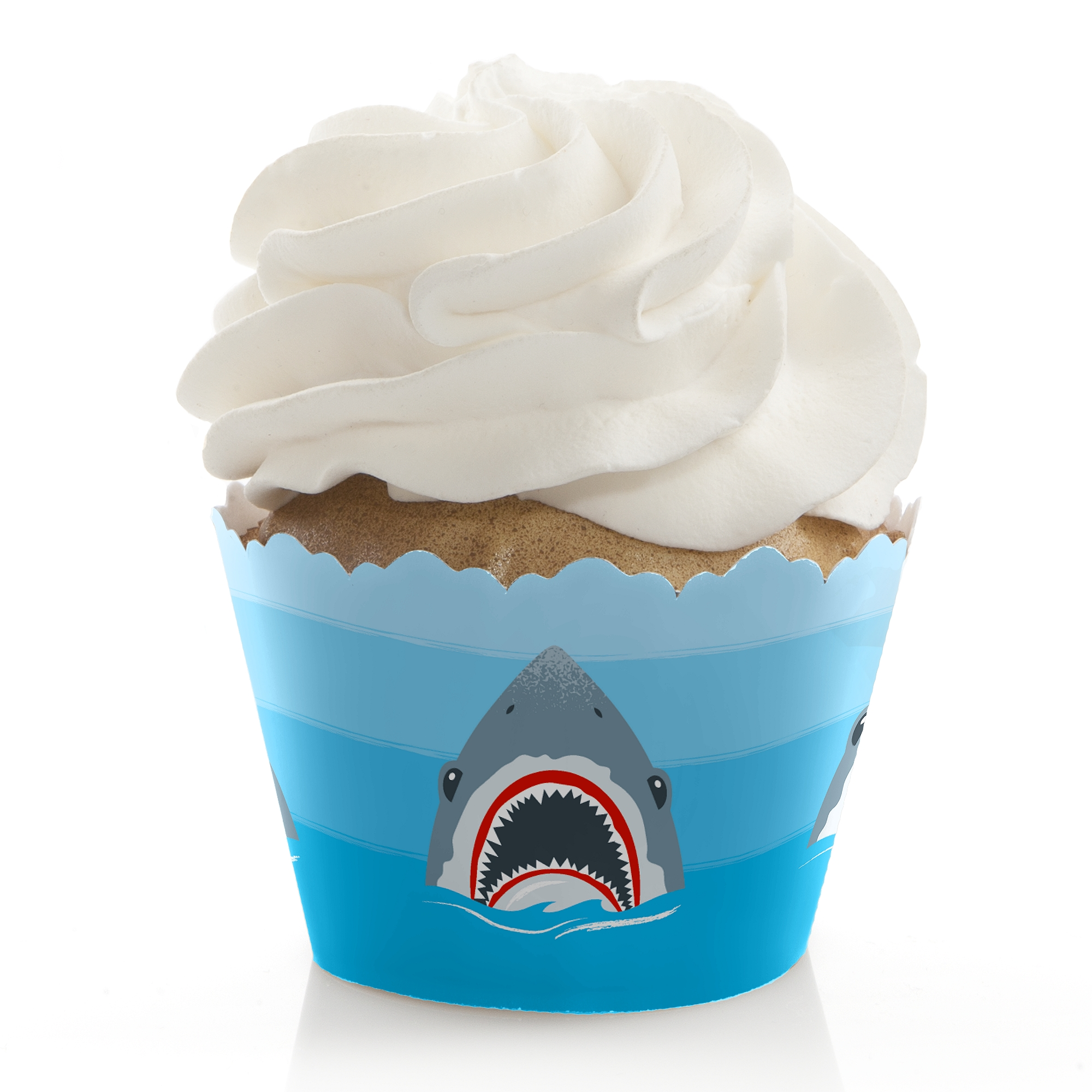 Shark Zone - Shark Week Party - Jawsome Shark Party or Birthday Party Decorations - Party Cupcake Wrappers - 12 Ct