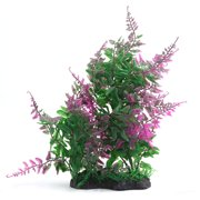 Purple Green Aqua Landscape Tank Decoration Plastic Plant