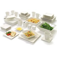 Deals on 10 Strawberry Street Nova Square Banquet 45-Pc Dinnerware Set