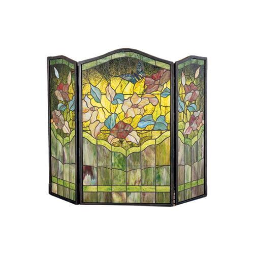 Meyda Tiffany Butterfly 3 Panel Fireplace Screen by Meyda Tiffany