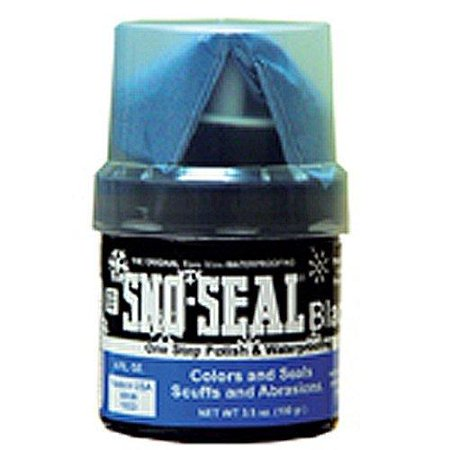 Atsko Sno-Seal Original Beeswax Waterproofing Wax with Applicator, Black, 3.5