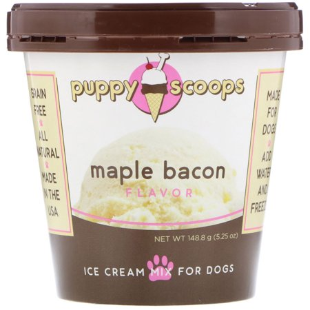 Puppy Cake  Ice Cream Mix For Dogs  Maple Bacon Flavor  5 25 oz  148 8 (Creamed Spinach With Bacon And Cream Cheese)