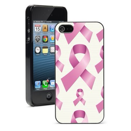 Apple Pink Ribbon - Apple iPhone 6 6s Hard Back Case Cover Breast Cancer Pink Ribbons Pattern (Black)