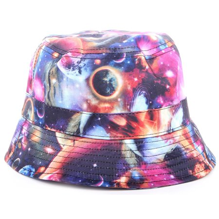 c328c9d3d19 Enimay - Enimay Unisex Printed Colored Bucket Hat Patterned Summer Sun Caps  Floral Planets One Size - Walmart.com
