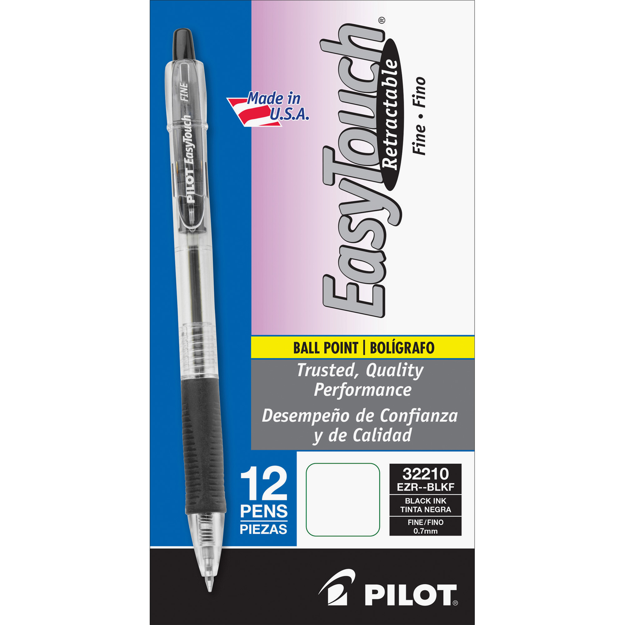 Pilot EasyTouch Retractable Ballpoint Pen