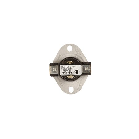 3387137 Whirlpool Dryer Thermostat Internal Bias