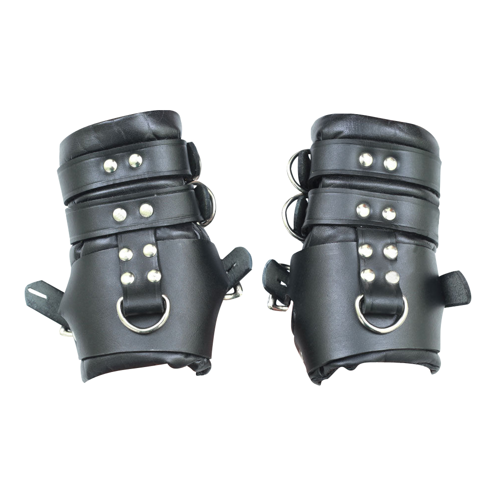 100% Genuine Heavy Leather Padded Wrist Suspension Cuffs Restraint Lockable