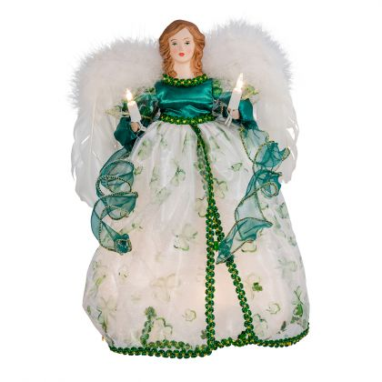 Kurt Adler UL 10-Light 12-Inch Irish Angel (Irish Angel Ornament)