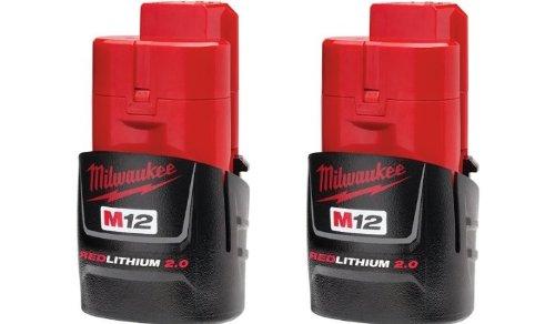 Milwaukee 2 x M12 REDLITHIUM 2.0 Batterie Compact 48-11-2420